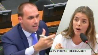 ➜ Eduardo Bolsonaro desmascara 'presidenta' da UBES | feat. Marco Feliciano | Escola Sem Partido