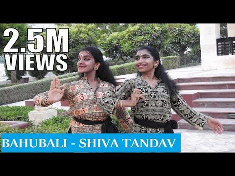 Bahubali - Shiva Tandav   Bharathanatyam Dance Choreography   Nidhi and Neha