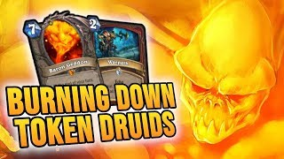 BURNING FORESTS with Control Warrior | Rise of Shadows | Hearthstone