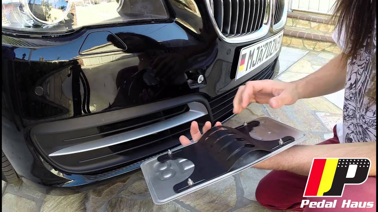 2014 Nissan Altima >> Quick Release No-Holes License Plate Mount DIY - YouTube