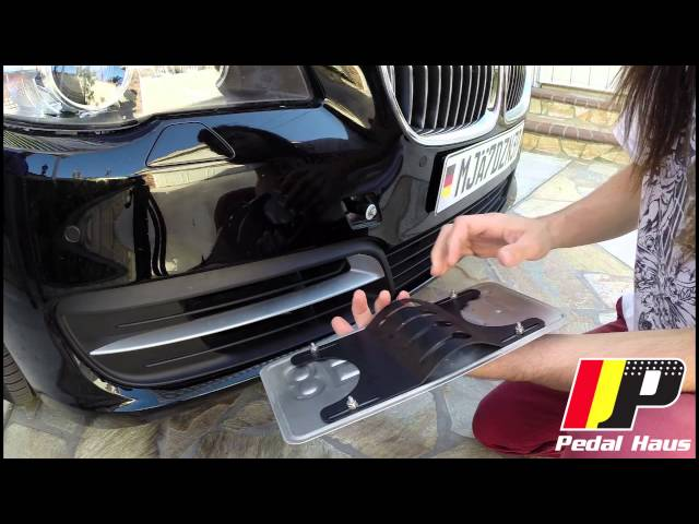 Quick Release No-Holes License Plate Mount DIY - YouTube