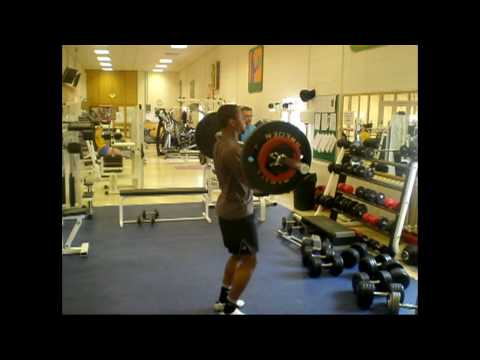 weight training for sprinting - Clean & Jerk Image 1
