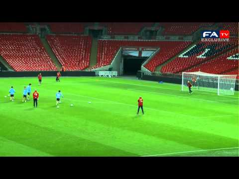 England 1-0 Spain | Spanish shooting practice