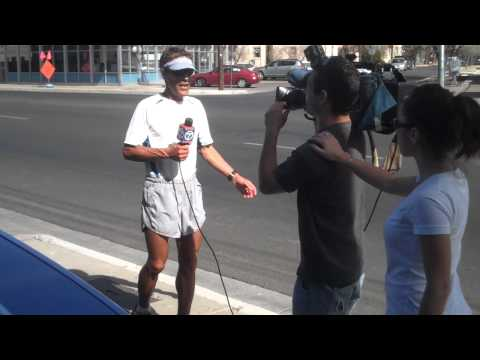 Day 20- Acoma Pueblo to Albuquerque, NM (KOAT-TV interviews Dean on the move)