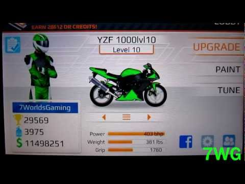 Drag Racing Bike Edition: How To Tune A Level 10 YZF 1000 6.693s 1/4