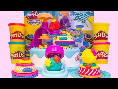 Play Doh Birthday Cake Play-Doh Cake Makin
