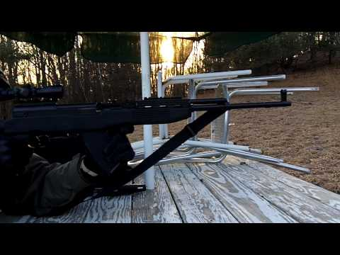 Shooting my Norinco SKS with Tapco Stock and 20 Round Magazine