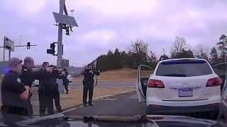 Dash Cam Shows Police Chase Involving Child Passenger And Arrest Using De-escalation Tactics