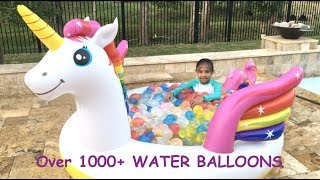 Water Fun Mystic UNICORN  Pool Spray + Over 1000 Water Balloons | Toys Academy