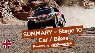Stage 10 Summary - Car/Bike - (Chilecito / San Juan) - Dakar 2017