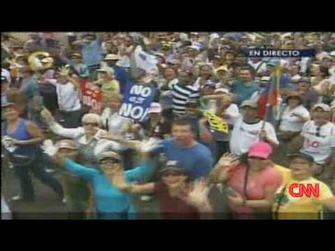Protests in Venezuela against Hugo Chavez