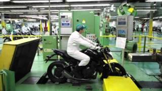 CB 1000R teste na fábrica da HONDA