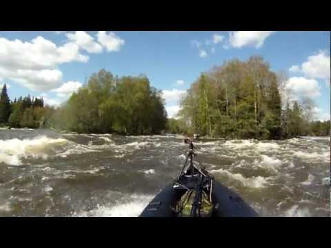 with SK487 at Kymijoki rapids