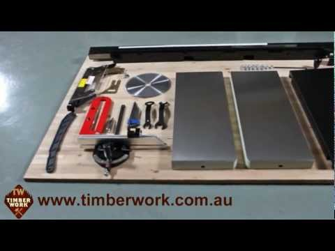 Harvey Table Saw Assembly and Operation. Timber Work