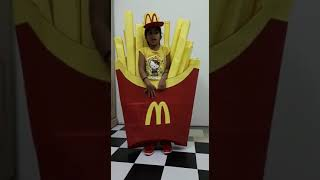 Fancy dress- French fries 1st prize winner