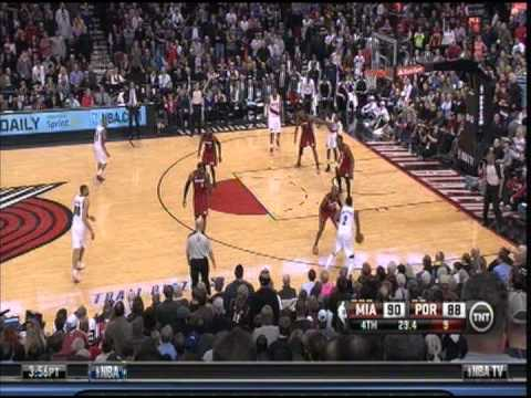 January 10, 2013 - TNT - Game 34 Miami Heat @ Portland Trailblazers - Loss (23-11)