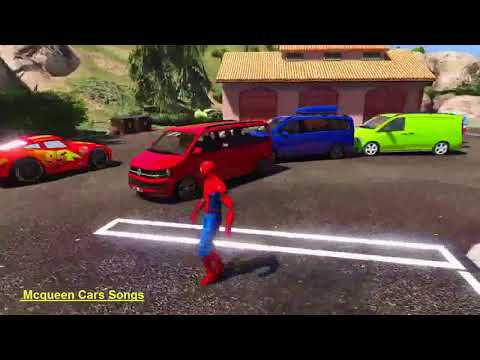 McQueen and Spiderman Minibus Yola Takes Out
