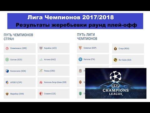 Результаты жеребьевки Лиги Чемпионов | 4 раунд плей-офф | Новости футбола