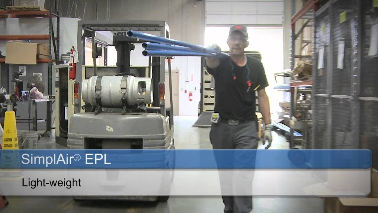 Simplair Easy Pipe Line Epl Quick Fit Piping System For