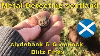 metal detecting scotland - Searching for ww2 finds from the blitz of greenock & clydebank