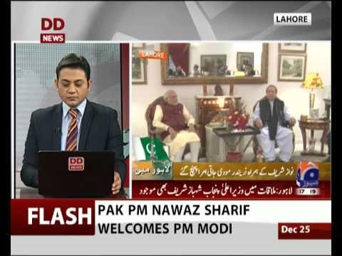 PM Narendra Modi meets Pak PM Nawaz Sharif