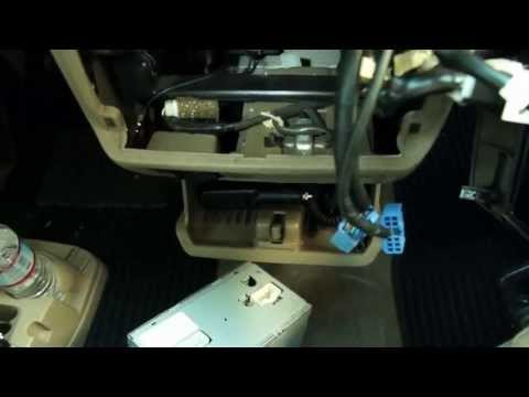 How to install CD player on Toyota Sienna