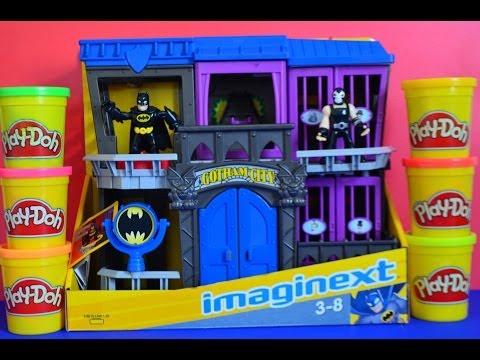 Play-Doh DC Superhero Imaginext Batman Gotham City Play SET Play-Doh Activities Play Dough FUN !!!