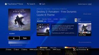 Destiny 2 Forsaken FREE Dynamic Cayde 6 Theme Preview