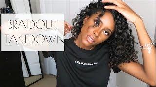 Braidout takedown On NATURAL Heat Damaged Hair | SARAH ELIZABETH