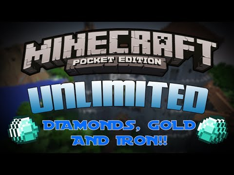 [0.8.1] Minecraft Pocket Edition Cheats/Glitches - Unlimited Diamonds. Gold & Iron!!