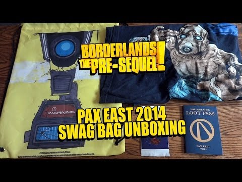 Borderlands The Pre-Sequel PAX EAST 2014 Swag Bag Unboxing & Review - HD 1080p