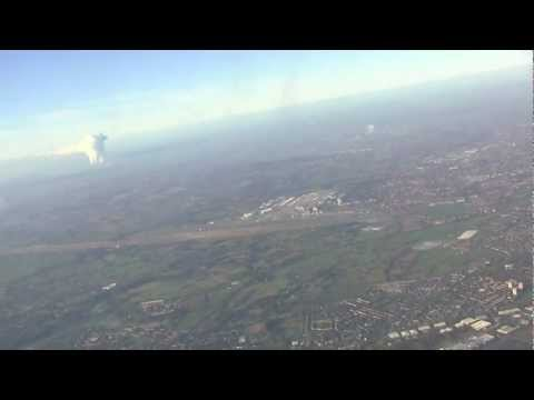 Taxi and Take-off from Manchester International Airport, UK - 10th December, 2012