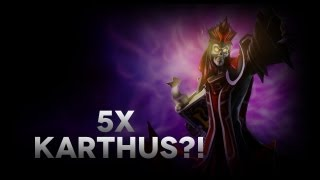 5x Karthus ULTI?!?!??? - League of Legends