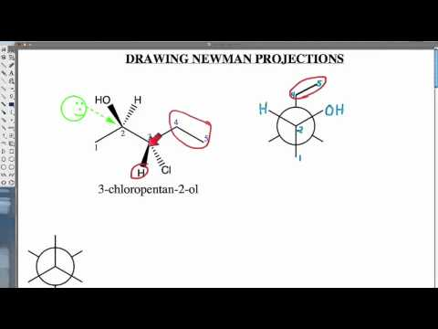 how to draw newman projections for cyclohexane