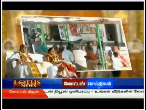 Sri Amma Bhagavan's Miracle In Tamilnadu Broadcasted In A Tamil News Channel video