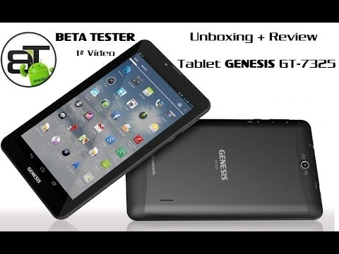 Unboxing + Review - Tablet Genesis GT-7325 [1# Beta Tester]