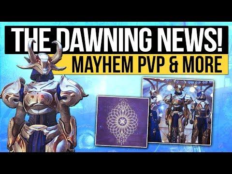 Destiny 2 News | THE DAWNING & MAYHEM REVEALED! - Mayhem PvP, Winter Event Date, Exotic Items & More