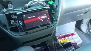 PIONEER AVH-200BT DVD RECEIVER bypass install.