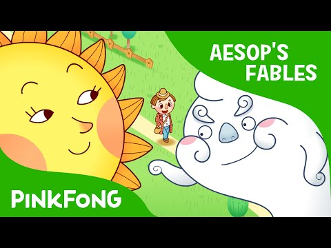 The Sun and the Wind | Aesop's Fables | PINKFONG Story Time for Children