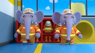 Elephant Firefighter Rescue Team | Nursery Rhymes | Kids Songs | Kids Role Play | BabyBus