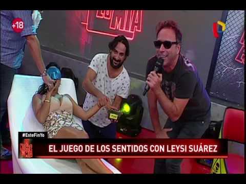Leisy Suárez cumplió divertido reto en La Noche es Mía