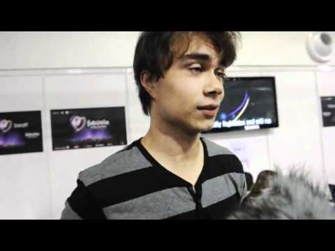 Alexander Rybak, interview Eurovision 2011 (I think Azerbaijan also can win)