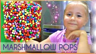 MARSHMALLOW POPS - @ Russia FAMILY Cookie Tasting Game Show! ! Маршмеллоу с Nutella.1080HD