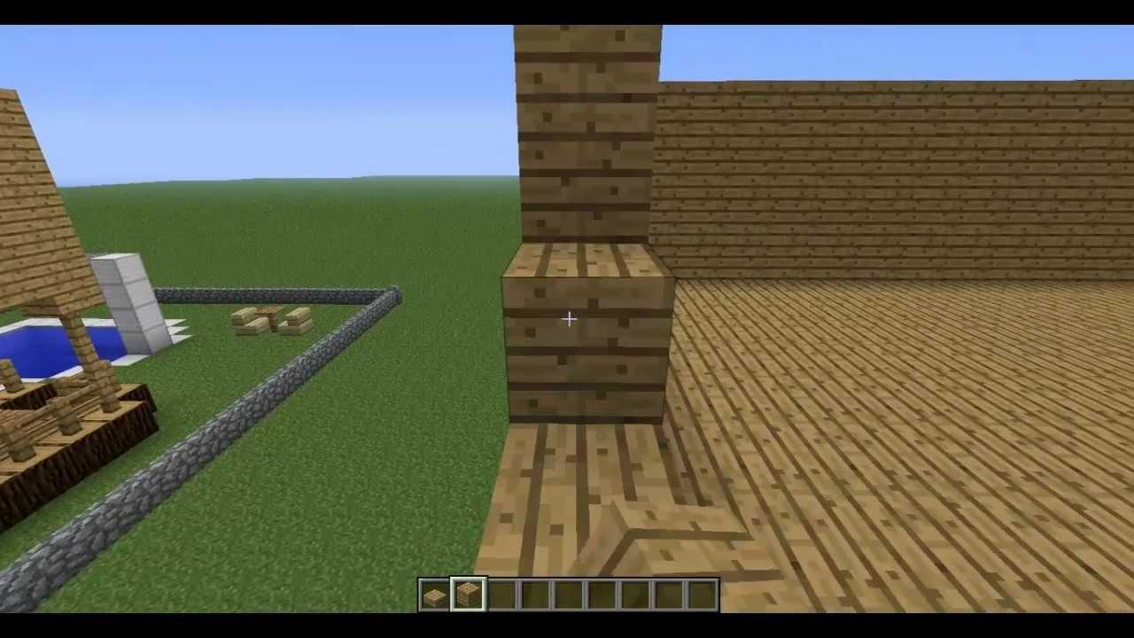 Como hacer una casa de madera en minecraft 2 3 youtube - Como construir una casa de madera ...
