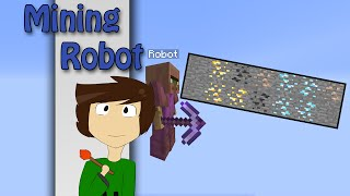 Minecraft - Mining Robot with only one command | Vanilla Minecraft