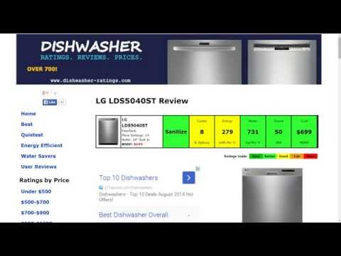 LG LDS5040ST Dishwasher Review