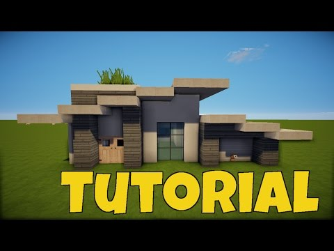 TÜR   Modernes MINECRAFT HAUS TUTORIAL Mit Garage [german]