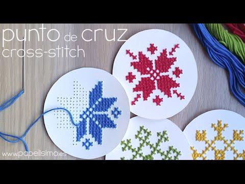 Como hacer una estrella en punto de cruz imagui - Como hacer punto de lana para principiantes ...