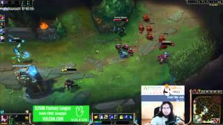 Imaqtpie denied lee sin's q for a huge outplay