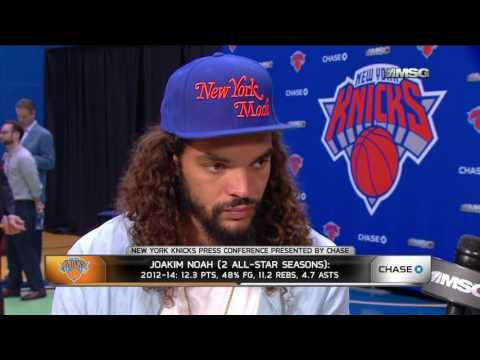 Joakim Noah Is Ready To Be An Animal For the New York Knicks!!